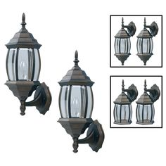 exterior wall lantern with built in electrical outlet. exterior wall lantern. should fit! if these come in black lantern with built electrical outlet l