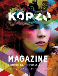 Magazine Korzo cover - colors and graphic Editorial Layout, Editorial Design, Typography Inspiration, Graphic Design Inspiration, Magazine Cover Layout, Magazine Covers, Design Brochure, Print Layout, Design Graphique