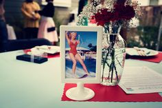 I love this '50s housewife-themed bridal shower!