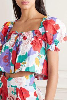 Fast Fashion, Fashion 2020, Look Fashion, Floral Fashion, Fashion Fabric, Floral Tops, Floral Prints, Faithfull The Brand, Stella Mccartney Kids