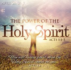 """The POWER of the Holy Spirit #Sermon ~ """"But you will receive power when the Holy Spirit comes on you; and you will be my witnesses in Jerusalem, and in all Judea and Samaria, and to the ends of the earth."""" Acts 1:8 NIV #HolySpirit #Bible #PowerOfGod #BibleVerse #GodsWord #Scripture #WordOfGod #DunamisPower #InspirationalQuote #UnitedFaithChurchBarnegatNJ"""