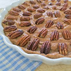 pecan pie: gluten free, dairy free, vegan