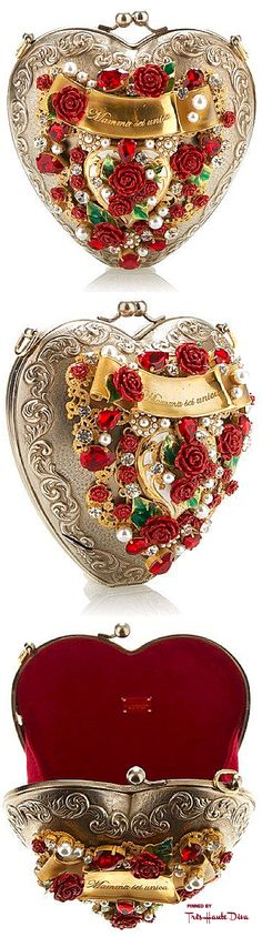 Dolce Gabbana Fall 2015 Sacred Heart Evening Bag ♔THD♔ More of this collection on my Milan Fall 2015 RTW Fashion board.