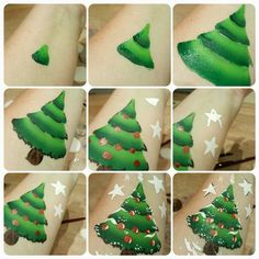 Christmas tree facepainting