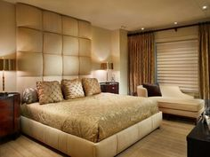 Wonderful colors for the bedroom golden bed