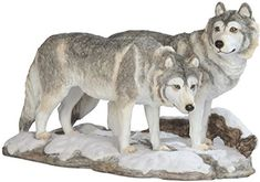 StealStreet Grey and White Wolves Walking on Snow Figurine *** Find out more about the great product at the image link. (This is an affiliate link) White Wolves, Collectible Figurines, Grey And White, Ss, Wolf, Image Link, Walking, Decor Ideas, Check