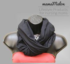 Breastfeeding Scarf Infinity black 3 in 1 Nursing by MamaMelonCA Breastfeeding Scarf, Nursing Scarf, Car Seats, Mom, Trending Outfits, Infinity, Etsy, Black, Free