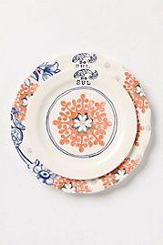 anthropologie has some really unique plates, sometimes you can get them on clearance for a great deal.