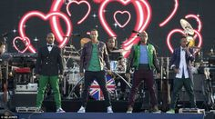 Boy band JLS took to the stage to sing their hit track Everybody in Love