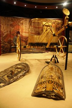 King Tutankhamun's Chariot and Shields