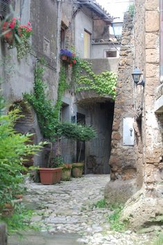 Day Trip from Rome: Calcata, Italy - An American in Rome Day Trips From Rome, Ancient Civilizations, Maps, Random, Places, Nature, Beauty, Italia, Naturaleza