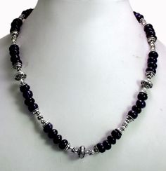 (SKU No.291) 291ct Natural Amethyst Designer Beads Necklace Faceted with Silver Beads