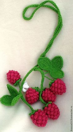 This Pin was discovered by Esr Crochet Fruit, Crochet Food, Love Crochet, Crochet Motif, Beautiful Crochet, Diy Crochet, Irish Crochet, Crochet Crafts, Crochet Dolls