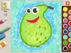 """Pear"" #memollow #painting #kids #pear Yummy garden #coloring"