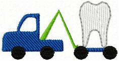 Mini little tooth tow truck design ready for any small project - like your next tooth fairy pillow! Brother Embroidery Machine, Free Machine Embroidery Designs, Embroidery Monogram, Embroidery Applique, Tooth Fairy Pillow, Mini Trucks, Truck Design, Tow Truck, Crafty Craft