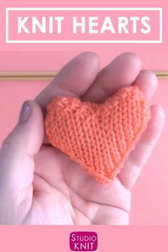 Knit Heart Softies Free Pattern with Video Tutorial So cute Learn how to Knit a Puffy Heart Softie with Free Knitting Pattern Video Tutorial by Studio Knit StudioKnit knitheart knittingvideo freeknittingpattern via Knitting Videos, Knitting For Beginners, Loom Knitting, Knitting Stitches, Knitting Patterns Free, Free Knitting, Knitting Projects, Free Pattern, Crochet Patterns