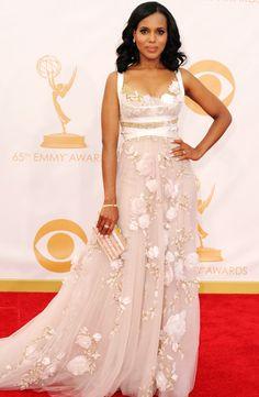 2013 Emmy Awards- Kerry Washington in Marchesa