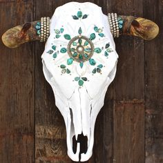Sea of Love Cow Skull would make a great accent for any western home.
