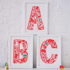 Animal Alphabet Letter