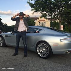 Feeling like James Bond while playing around with the new 4 door Aston Martin Rapide S :) #astonmartin