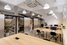 Completed in 2017 in Shanghai, China. Images by Jonathan Leijonhufvud. Canadian lifestyle brand Herschel Supply commissioned Linehouse to design their first China office, located in a Shanghai lane amongst an urban. Corporate Office Design, Open Office Design, Corporate Offices, Office Furniture Design, Office Interior Design, Office Interiors, Furniture Ideas, Style At Home, Office Open Plan