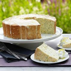Lemon-Angel Poppy Seed Cake