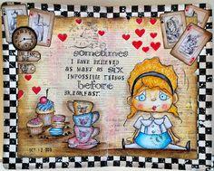 JIJI Cards: Арт журнал: Алиса {Art journal: Alice}