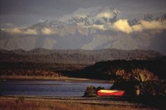 Okarito Lagoon and the Southern Alps, West Coast, New Zealand.1986. By Robin Morrison