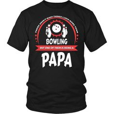Excited to share the latest addition to my #etsy shop: This Papa Loves Bowling T-Shirt http://etsy.me/2CuraXb #clothing #men #tshirt #papa #tee #giftforpapa #grandfather #father #bowling
