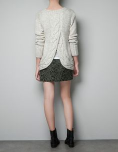 OPEN BACK SWEATER - Knitwear - Woman - ZARA Singapore