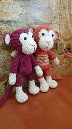 háčkovaná opička Witch Broom, Monkey, Cross Stitch, Teddy Bear, Bikini, Toys, Pattern, Animals, Crochet Dolls