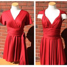 Infinity Red Dress Pattern - free sewing patterns - Dress Patterns