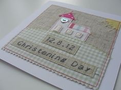Applique Christening Card