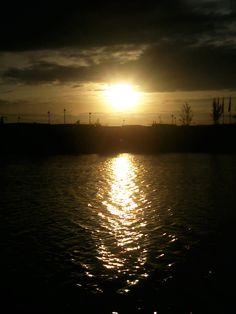 le coucher soleil sur le lac  *-*