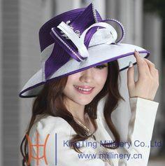 f39d303af06 Women Church Hat Ladies  Satin Dress Hat Polyester Hat Diamond Casings Satin  Fabric Decoration Ribbons