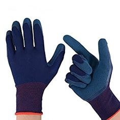 6 Pairs Orange Latex Coated Rubber Work Gloves Builders Gloves Scaffolding Mens Safety Builders Gardening 6, Small-7