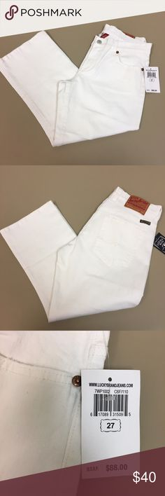 TODAY ONLY PRICE⬇️✨NWT Lucky Brand capri jeans NWT white Lucky Brand crop jeans. Size 27 and stretchy jean material. Great for the summer!! **Any questions, just ask! 💥open to all offers Lucky Brand Jeans Ankle & Cropped