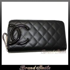 e3c8f04b8d7a50 AND AS: Chanel CHANEL Cambon line zip wallet Black × Black/PK zip around  wallet brand new new zippywallet - Purchase now to accumulate reedemable  points!