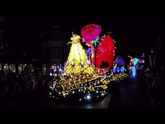 A clip from The Little Mermaid Portion of the Hong Kong Disneyland Paint the Night parade Hong Kong Disneyland, Night, Videos, Youtube, Painting, Painting Art, Paintings, Painted Canvas, Youtubers