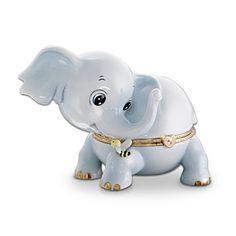 Kismet Elephant Porcelain Limoges-Style Music Box