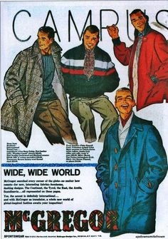 McGregor Sportswear, 1960's