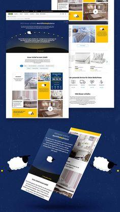 Konzeption, Kreation und Programmierung einer Kampagnen Landingpage für die #worklifesleepbalance von IKEA. Ikea