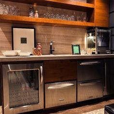 Built in bar idea - i like the idea of liquor shelves with mirror ...