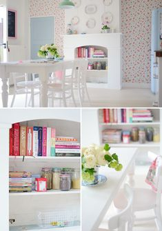 The sweetest, girlies kitchen ever.  I kind of want it.  Badly.