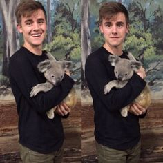 CONNOR WITH A KOALA.