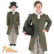 Regency Boy Costume Child Edwardian Victorian Fancy Dress Oliver Twist Outfit