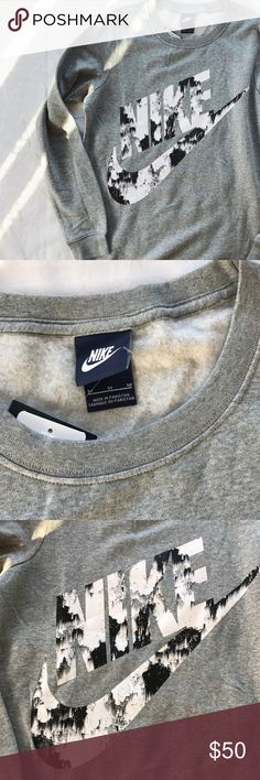 Nike Marble Print Logo BF Sweatshirt •Crew neckline and large marble printed logo at front. Longline, boyfriend fit.   •Size Medium  •New with tag.  •NO TRADES/PAYPAL/HOLDS/MERC/VINTED/NONSENSE. Nike Tops Sweatshirts & Hoodies