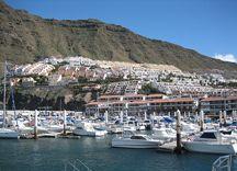 The Los Gigantes Marina in Tenerife
