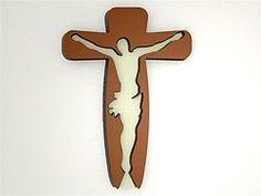 3D Wandbild - 3D Wandtattoo Kruzifix    Einteiliges Wandbild in den Maßen 58cm x 82cm x 4cm.