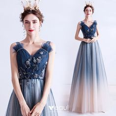 Blue Evening Dresses, Evening Gowns, Prom Dresses, Wedding Dresses, Cosplay Outfits, Dress Outfits, Elegant Dresses, Pretty Dresses, Lehenga Saree Design